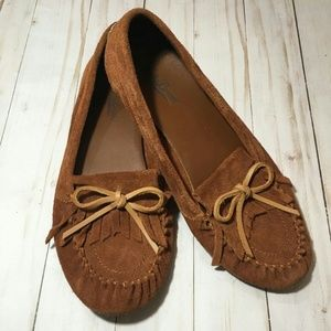 Lucky Brand LP-Anchor Brown Suede Moccasins Sz 7
